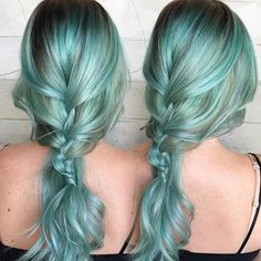 Wintergreen hair color and boho braid by Alexis Thurston facebook.com/hotbeautymagazine