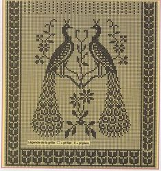 "Gold Crochet: The tent ""Peacock""! Crochet Curtain Pattern, Crochet Curtains, Curtain Patterns, Filet Crochet Charts, Crochet Stitches, Crochet Patterns, Yarn Over, Crochet Lace, Cross Stitch Patterns"