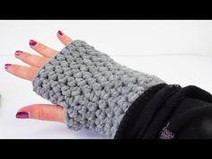 Häkeln Armstulpen Handschuhe Winter halbe Maschen einfach easy - YouTube