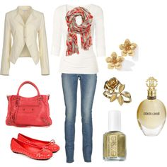 Fun city look.  Perfect for a long day of shopping!