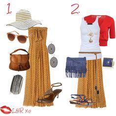 maxi dress look 2 ways