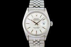 Rolex Datejust (ca. 1983-84)  Jubilé-Band, Silber Zifferblatt, Strich Indexe  Referenz: 16030 | 8,19 Mio-Serie  http://www.juwelier-leopold.de/uhren/rolex/vintage.html