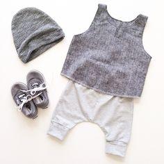 Slouchy beanie + Venice tank + Newport harems | carlymegan ss15 | kids, babies, style, fashion, children's clothing