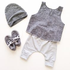 Slouchy beanie + Venice tank + Newport harems | carlymegan ss15 | kids, babies, style, fashion, children's clothing