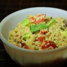 Guacamole-Style Quinoa Recipe- garlic, onions, jalapeno pepper, cilantro, tomato