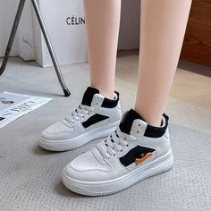 Women's #white black casual shoe #sneakers side decorated design Black Shoes Sneakers, Black Casual Shoes, Sneakers Nike, Black Side, Shoe Shop, Laos, Nike Air Force, Running Shoes, Sport