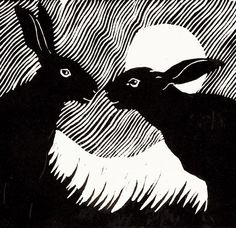 Rosemary Farrer, artists and printmaker sells with us online and in our art gallery in Stow-on-the-Wold. Rosemary paints in oils and also makes original prints. The prints are in no way copies of the paintings, they are conceived of, and made, as a respon Linocut Prints, Art Prints, Block Prints, Rabbit Art, Sgraffito, Monochrom, Art Fair, Pop Art, Hare