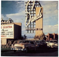 The Sands Hotel, Las Vegas, 1950s (Old Blue Eyes headlining)