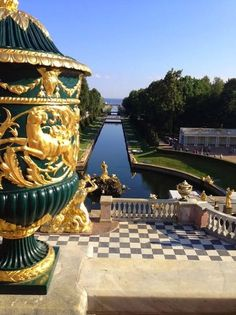 Looking out to the Gulf of Finland from Peterhof Palace  Imperial St. Petersburg: A Perfect 3 days Peterhof Palace, Russian Architecture, Peter The Great, Summer Palace, Shopping Street, Quebec City, Versailles, Finland, North America
