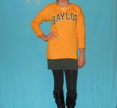 Baylor Sweatshirt Dress Bears Game Day by LoveMyGameDress on Etsy