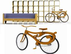 Art Nouveau Bicycles - The Pliny the Younger Furniture Collection Features a Truly Bizarre Creation (GALLERY)