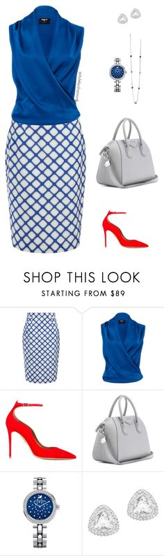 """""""Summer Corporate Fashion"""" by style-by-shannon-leeper ❤ liked on Polyvore featuring Jonathan Saunders, Paule Ka, Aquazzura, Givenchy and Swarovski"""