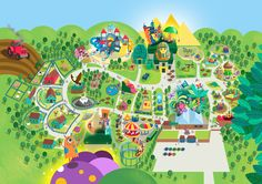 Wheelgate Park Map by Katy Halford Illustration- www.katyhalford.co.uk #wheelgatepark #map