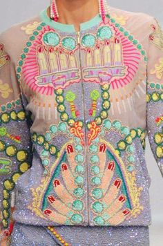Psychedelic embroidered jacket