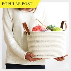 Learn how to make this simple no-sew rope coil basket!
