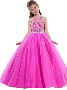 TaYan Big Girls Birthday Party Ball Gowns Beaded Kids Pageant Dresses 10 US Pink…