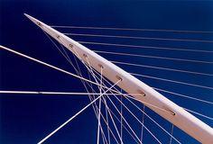Geometric Lines, Geometric Patterns, Cable Stayed Bridge, Ouvrages D'art, Mind The Gap, Norman Foster, Santiago Calatrava, Architectural Elements, Types Of Art