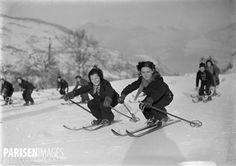 Leçon de ski, 1938-1939.