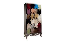 Mueble diseño retro forma de puzzle