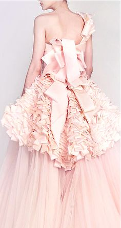 "Rami Kadi's Spring Couture Collection, ""The Hanging Gardens"" has a Fairy Tale quality that's full of whimsy, fantasy & feminine elegance. Pink Wedding Gowns, Pink Gowns, Pink Dress, Bridal Gowns, Dress Up, Gown Wedding, Magenta, Paisley, Herve Leger"