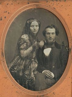 Handsome couple. Early 1850s