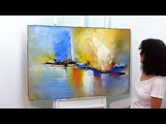 Painting on canvas - Painting on Recycled Canvas - 2 - Old Wooden Board - YouTube