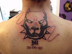 Tribal hell hound with date by IAteAllMyPaste on deviantART Hellhound Tattoo, Tattoo Drawings, Fish Tattoos, Deviantart