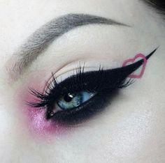 Punk Makeup, 70s Makeup, Edgy Makeup, Makeup Eye Looks, Gothic Makeup, Grunge Makeup, Eye Makeup Art, Pretty Makeup, Makeup Inspo