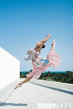 Miami City Ballet corps member Mayumi Enokibara (photo by Henry Leutwyler for Teen Vogue)