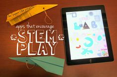Last month, we focused on apps that encourage play with Science, Technology, Engineering and Math. Steam Activities, Math Activities, Stem Science, Programming For Kids, Supper Club, Apps, Young Children, Story Time, Projects