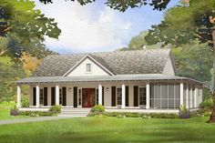 The Beautiful Low Country Style Home by Affinity Building Systems, LLC. Our PIEDMONT Floorplan is a favorite.  Call us today to plan your next home at 229-482-1200 or Toll Free 877-560-2468.  #CustomModular #Modularhomes #Modular We have builders in Georgia, Florida, Tennessee, Mississippi, Louisiana, North Carolina, South Carolina, Alabama