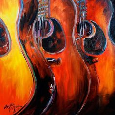 READY to ROCK GUITAR ABSTRACT - by Marcia Baldwin from Abstracts