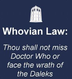 Doctor Who - Whovian Law
