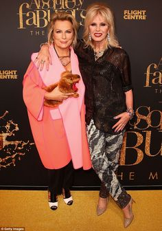 No chance! Jennifer Saunders (left)  snubbed Kim Kardashian's request to star in the sequel to Absolutely Fabulous: The Movie. Pictured with co-star Joanna Lumley