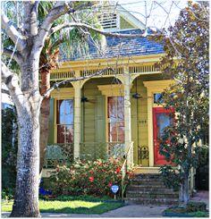 shotgun house . new orleans . louisiana