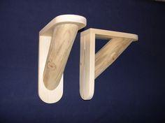 Log Shelf Brackets DIY 1 pair Large size by RusticLogDecor, $28.95