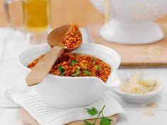 Rote-Linsen-Bolognese