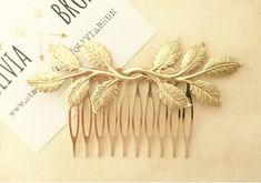 Leaf Branch Hair Comb Gold Leaf Hair Comb Branch Hair Comb Wedding Hair Piece Bridal Hair Greek Headpiece Greek Goddess