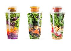 Salad shakers - love this idea! Healthy Eating Recipes, Lunch Recipes, Appetizer Recipes, Lunch Meals, Healthy Food, Appetizers, Gazpacho, How To Make Trifle, Salads To Go