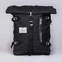 Poler Rolltop Backpack Pack Black