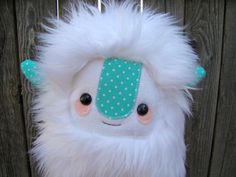 cute monster plush, stuffed Yeti