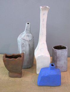 Home Decor Objects Ideas : Clementina van der Walt's Morandi vases at Guild Exhibition, Cape Town. Ceramic Clay, Ceramic Vase, Ceramic Pottery, Keramik Design, Bokashi, Style Deco, Contemporary Ceramics, Fine Art Gallery, Gallery Gallery