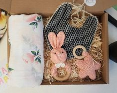Crochet baby girl gift set | Etsy Baby Girl Gift Baskets, Baby Shower Gift Basket, Baby Gift Box, Baby Hamper, Baby Shower Gifts, Newborn Baby Gifts, Baby Girl Gifts, Expecting Mom Gifts, Gifts For New Parents
