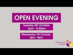 Portsmouth College Open Evening 2015 - YouTube