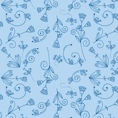 Simple Life - Blue fabric by toni_elaine on Spoonflower - custom fabric