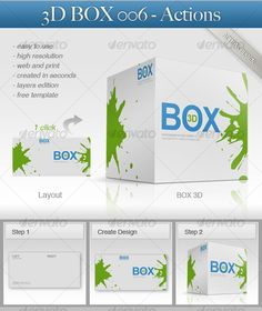 Cool Photoshop Actions for purchase 3D Box 006