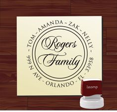 Custom Personalized round SELF INKING Return by lovetocreatestamps, $29.95