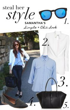 Steal Her Style: Samanthas Simple & Chic Look