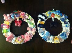 Twin Diaper Wreaths