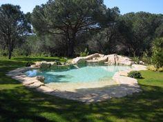 Piscine de jardin intégrée et paysagée
